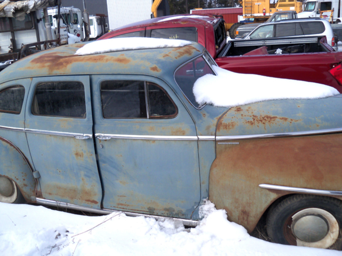 The '48 Plymouth sedan is wasting away.