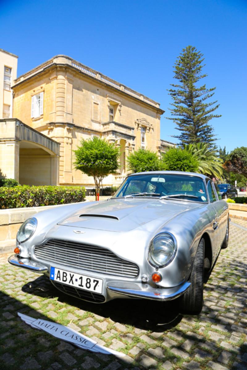 Malta Classic Aston Martin at Corinthia Palace