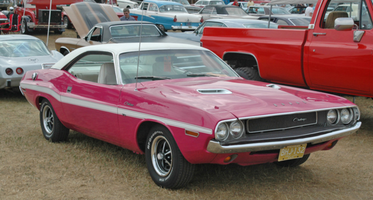 Fred Minor's 1970 Challenger brightened up the postwar show field with its Panther Pink paint, one of eight High Impact Paint colors available that model year. Panther Pink is particularly rare, as it was only offered in spring 1970. Minor brought the Dodge from Gladstone, Mich.