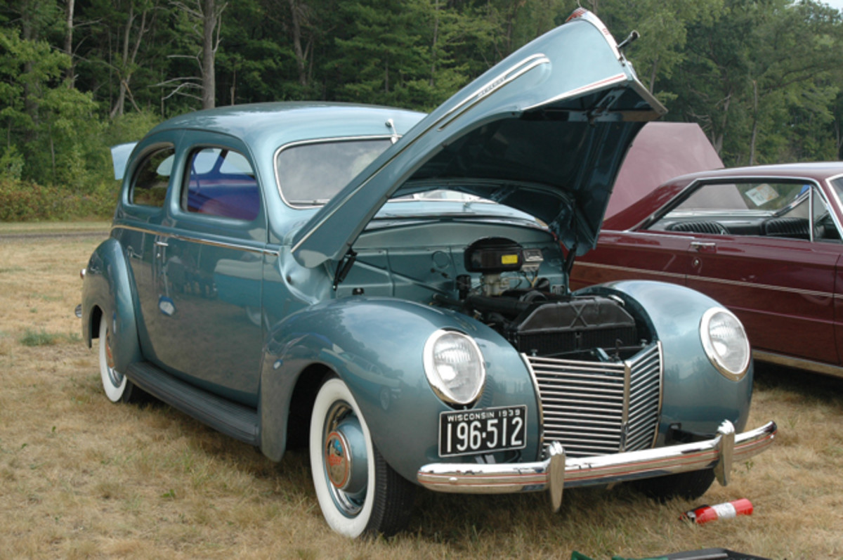 Mercury's first model year of production was represented by Ellen and Bob Flood's 1939 Mercury two-door sedan.