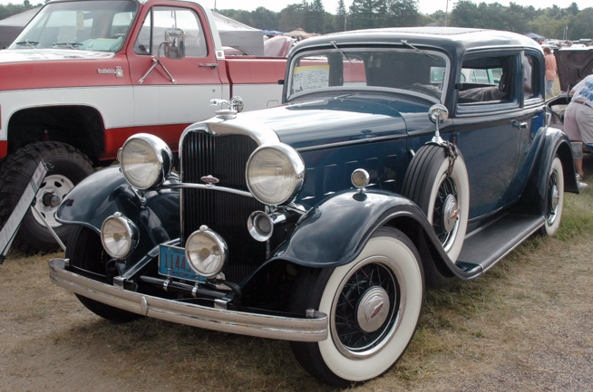 Just four of these eight-cylinder 1932 Lincoln KA victorias are known to remain in the United States, and this one at Iola was available to a new owner for $59,500.