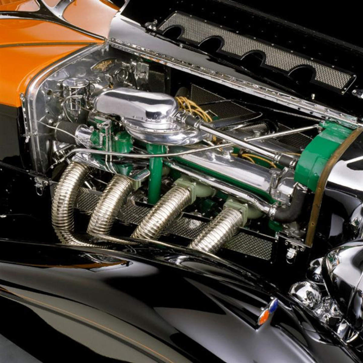 The 1935 Gurney-Nutting Speedster is Equipped with an SJ Factory Supercharged Engine. Image - La Jolla Concours d'Elegance