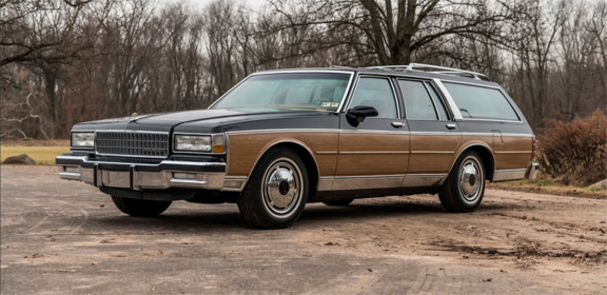 The 1988 Caprice Estate station wagon crossing the 2019 Mecum Kissimmee block. This 12,000-mile car will probably sell for the most among the Caprices on offer at Kissimmee given its rarity in this condition and the strong interest in station wagons. Mecum Auctions photo