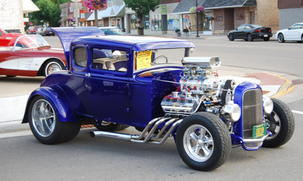 Brian Young's friends and family members helped him build this car.