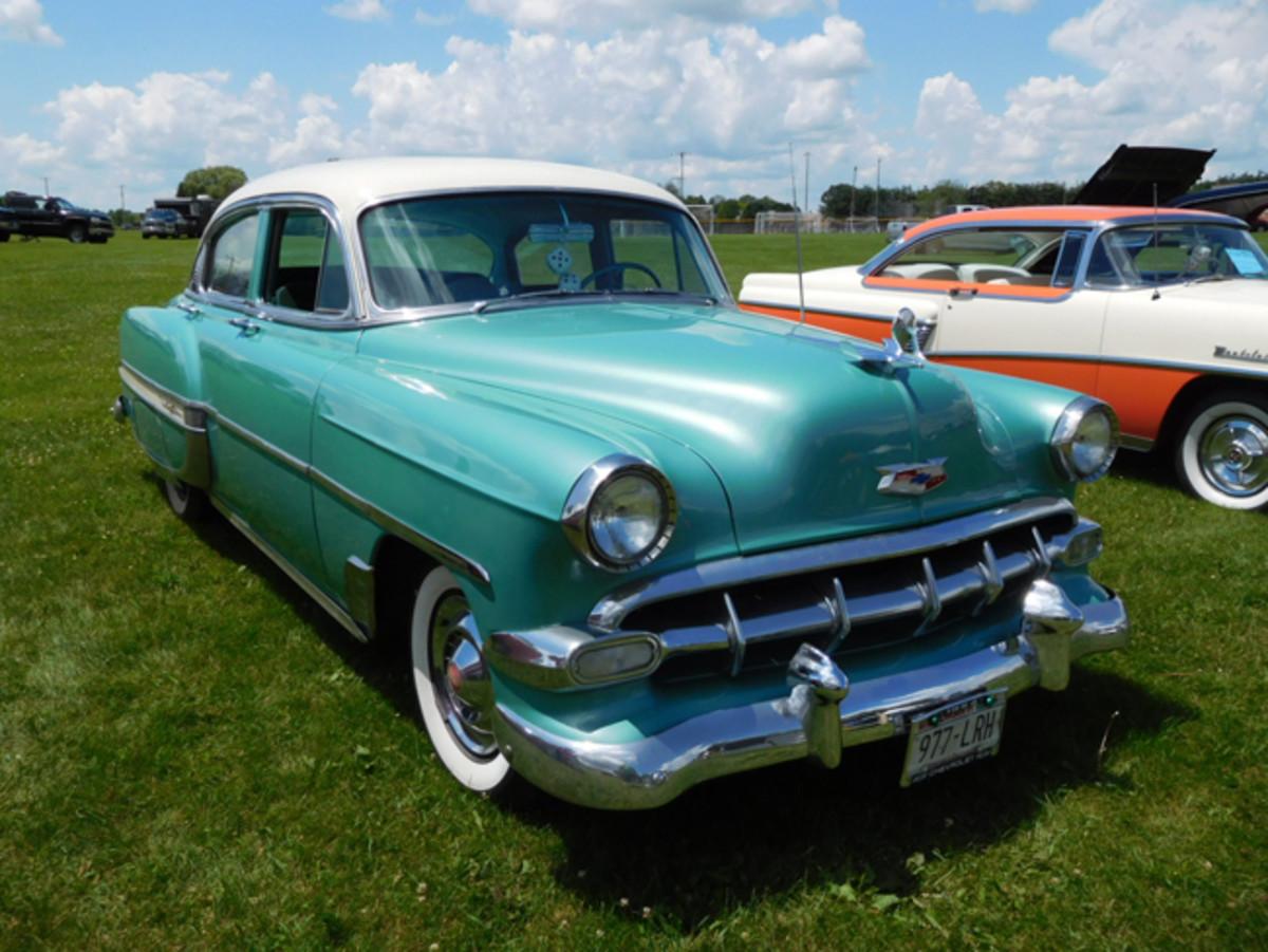 A very nice unrestored 1954 Bel Air sedan at a show in East Troy, Wis., in 2017.