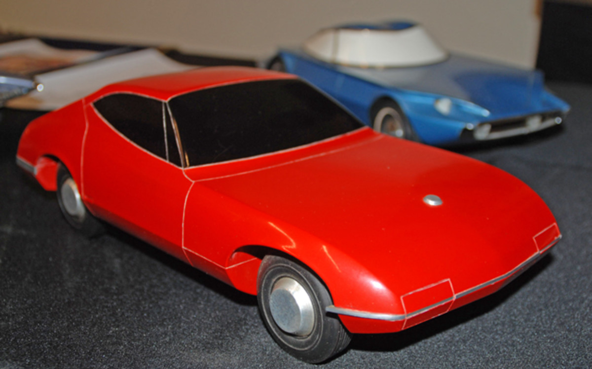 This unique coupe was the creation of John Jacobus, one of several attempts he made trying to win a spot as an automotive designer in the Fisher Body Craftsman Guild competition.
