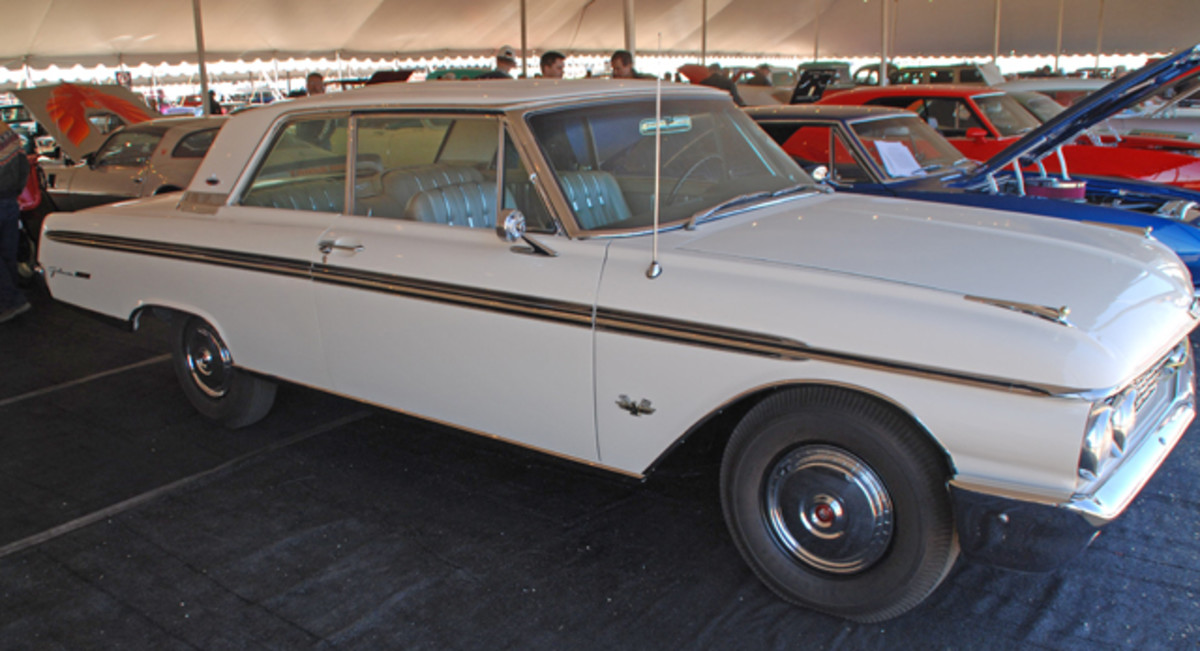 Rare seems to find its way to Barrett-Jackson such as this 1962 Ford Galaxie 500, factory 406-405 HP V8 and factory equipped with an automatic transmission, with factory documentation to back this claim up.