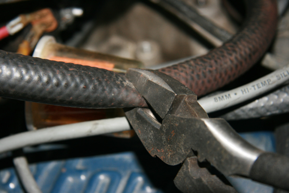 If you suspect internal leakage, pinch off the suspected hose with a pair of pliers or Vice-Grips. If the idle significantly changes, you are close to the solution.