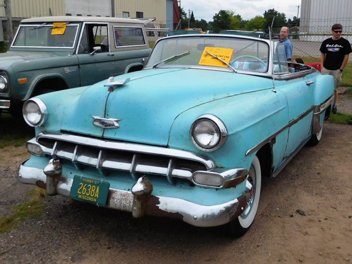 "Hugh Hanig brought a ""barn"" find '54 Bel Air ragtop to the 2018 Merrill, Wis., show."