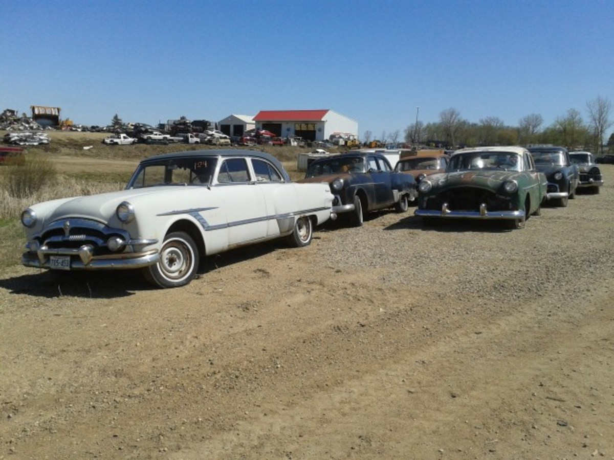 This parade of Packards is comprised of 1950s examples. All appear to be solid and complete.