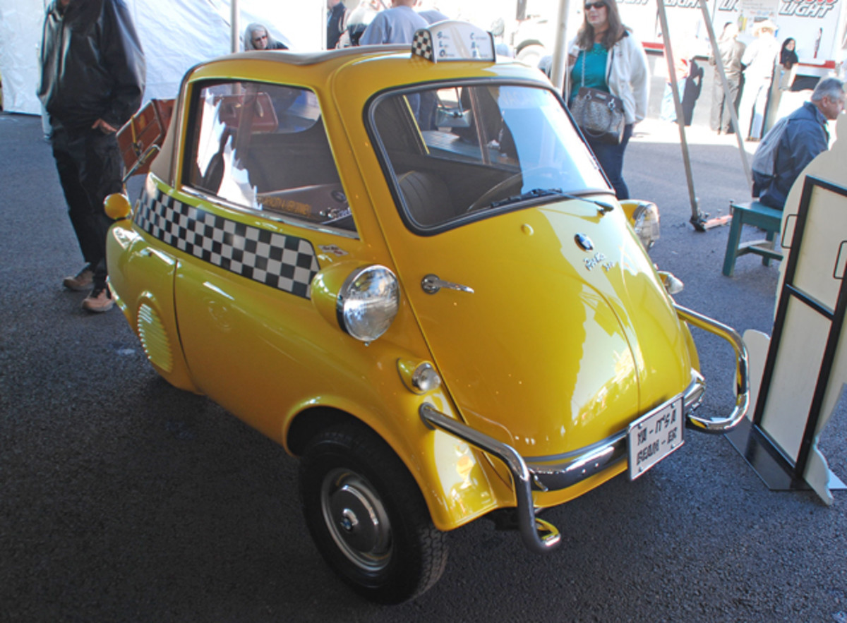 You want unusual, how about this one-of-a-kind BMW Isetta Taxicab! A great chance to get close to the passengers for the high bidder at Barrett-Jackson.