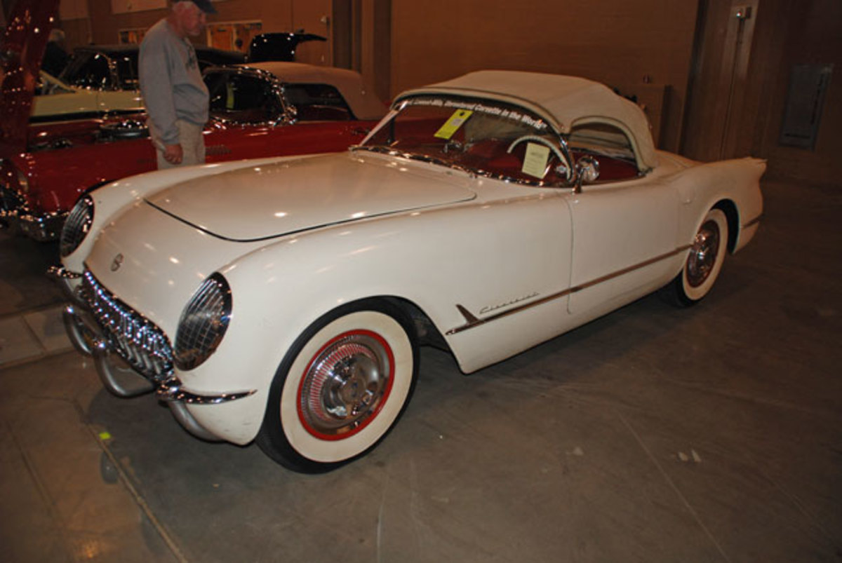 One of the stars of Kissimmee will be this legendary 1954 Corvette which was reportedly walled up and hidden away by its original owner.