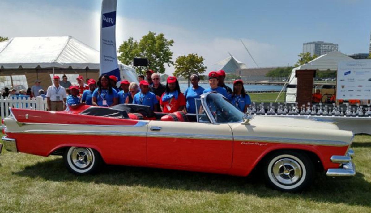 Last year's Youth's Choice winner - 1958 Dodge Custom Royal convertible. Photo- Milwaukee Concours d'Elegance