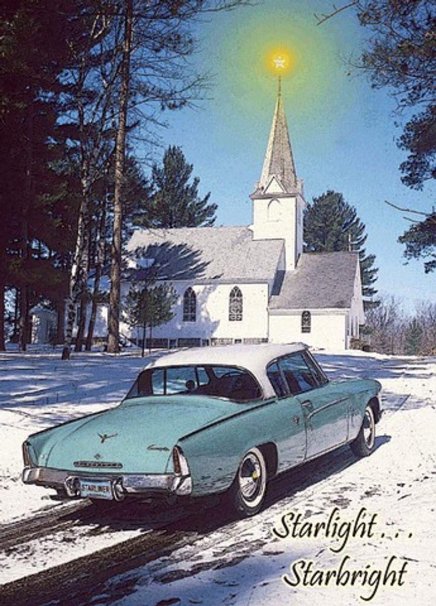 1953 Studebaker Starliner Christmas card
