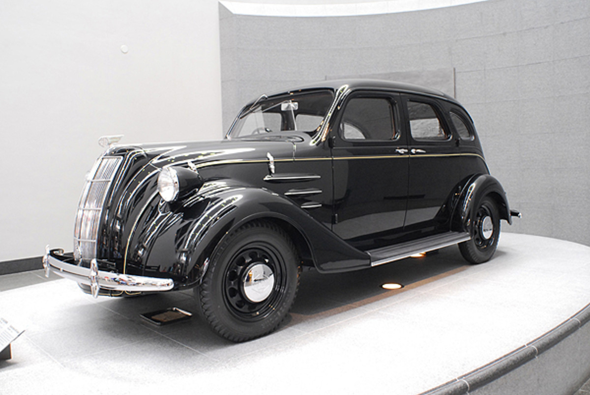 Toyota Motor Corp. could not locate an original version of its 1936-'42 Toyoda AA for a previous anniversary celebration, so it built this replica. An original was found shortly thereafter.