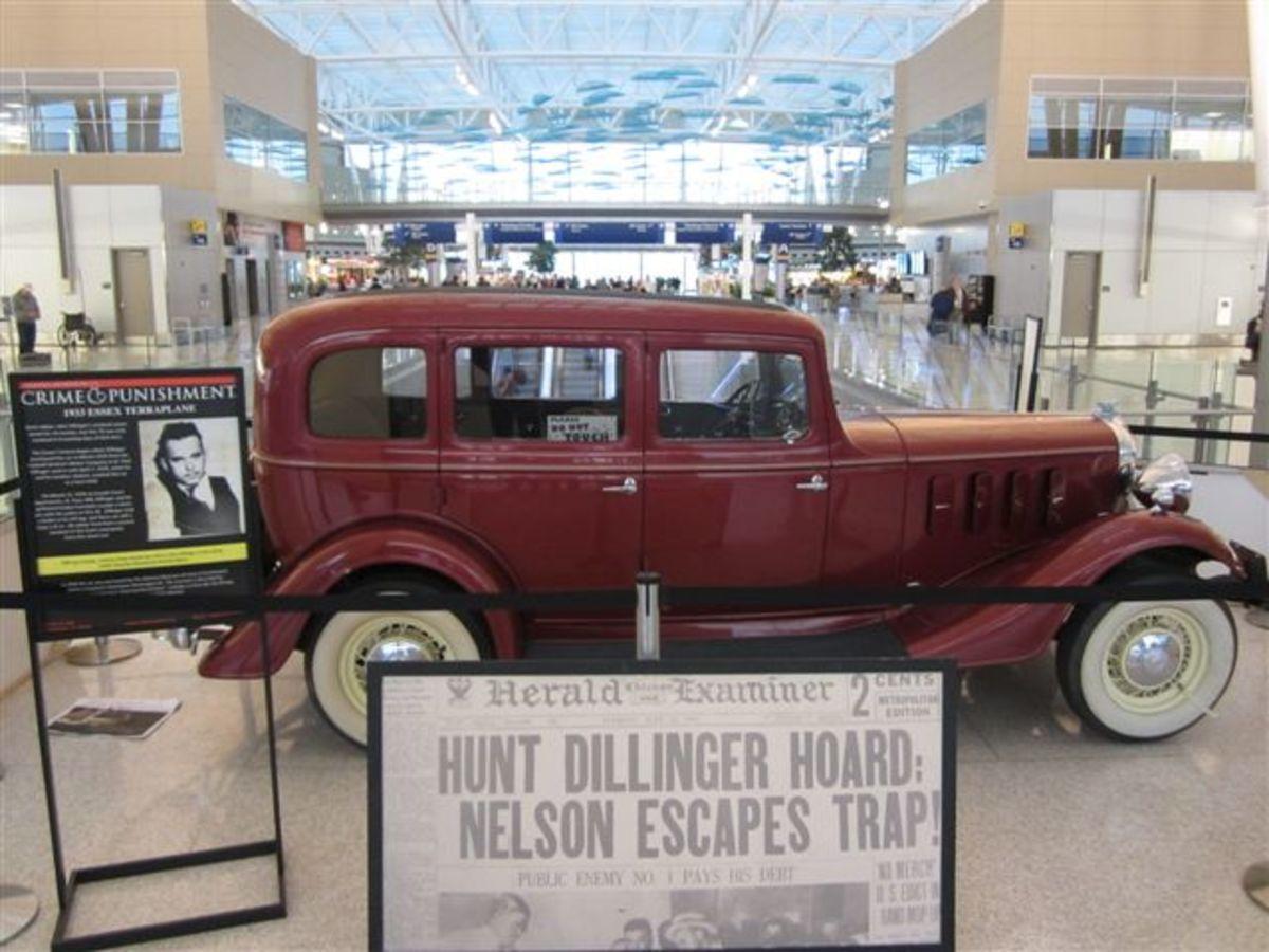 Dillinger Car Photo at Indy Airport.JPG