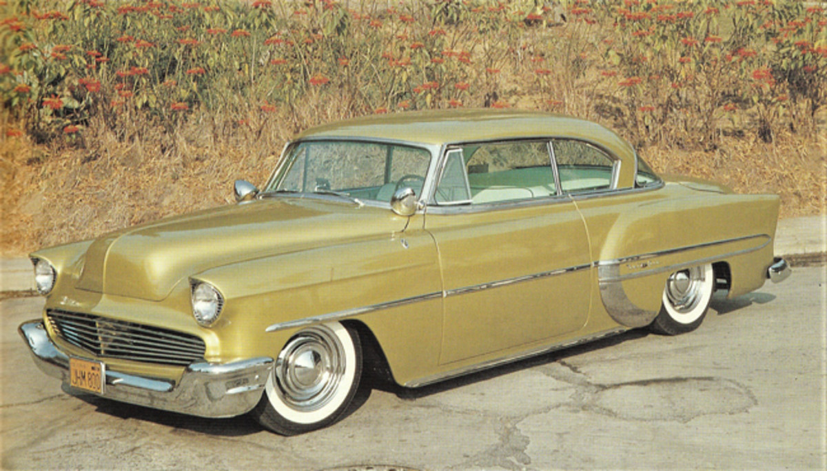 "George Barris built this customized '54 Bel Air called the ""Little Golden Galleon"""