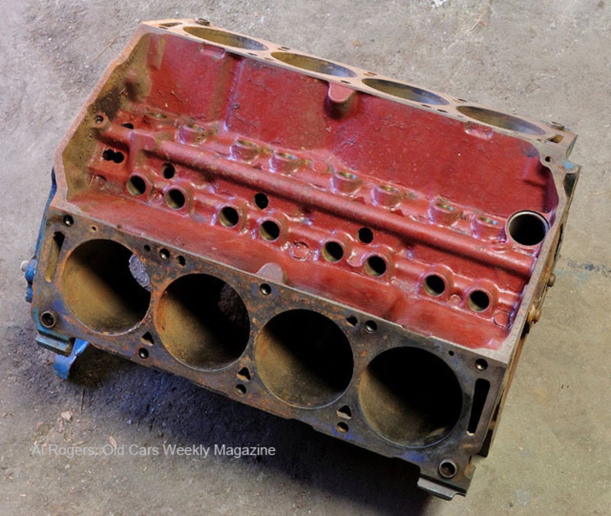 "Two 427-cid V-8 engine blocks were included with the car, and if there was any question who Ford sold this Thunderbolt to, the ""Bonner"" stamped into the blocks provides the answer."