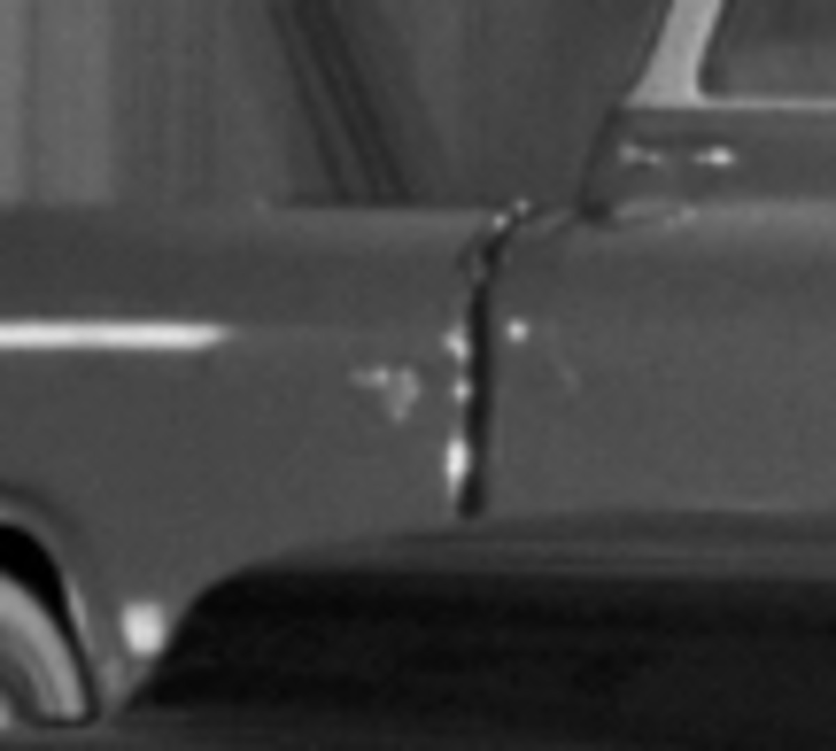 A close-up of the unique emblem at the leading edge of the Bluegrass Runabout's bed. The nature of the emblem is as unclear as this image. (GM Media Archive collection)