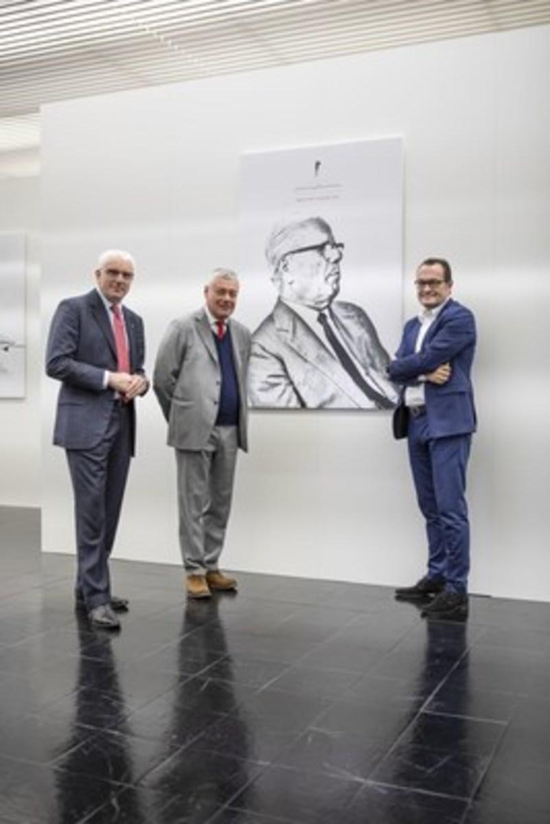 Silvio Pietro Angori, Paolo Pininfarina, Michael Perschke. Photo - PRNewswire