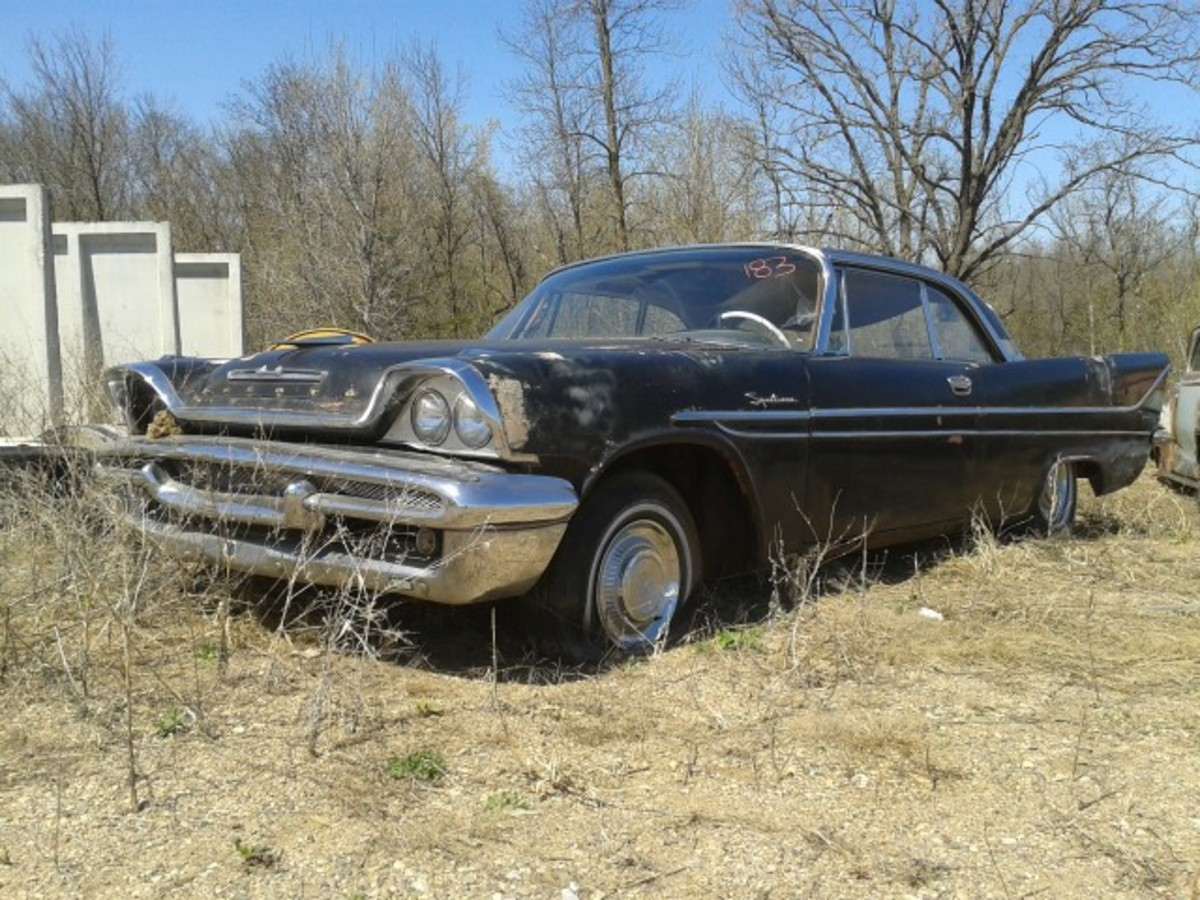 This 1958 De Soto two-door hardtop is from the stash of mostly Mopars recently acquired by French Lake Auto Parts. It looks to be a good builder.