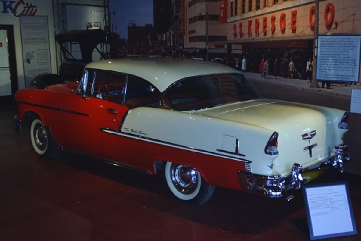 Granger said this 1955 Chevrolet Bel Air is one of the first cars purchased by the museum with Sloan Auto Fair funds.