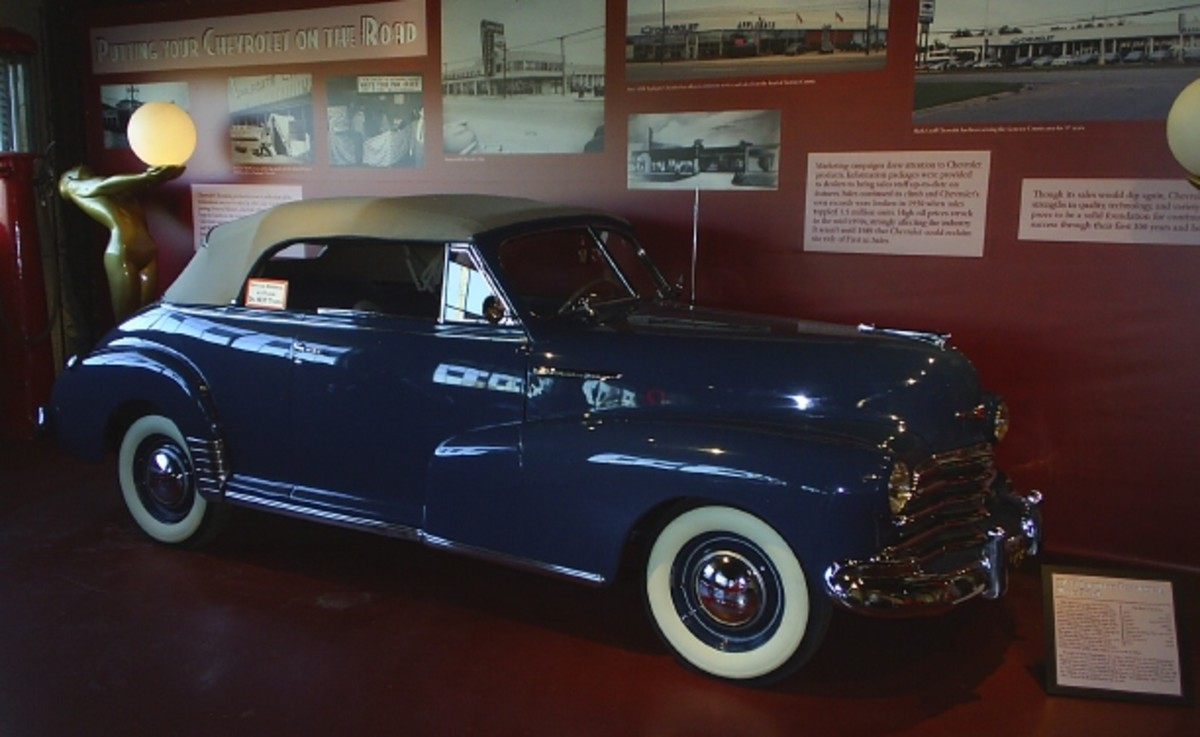 A 1947 Chevrolet given to the museum by Old Cars reader Bob Sovis in memory of his first son.