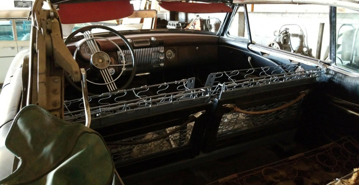 Interior of the Skylark to be sold by VanDerBrink Auctions.