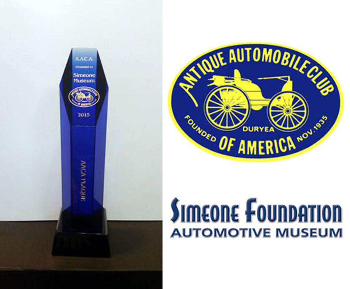 Simeone with award