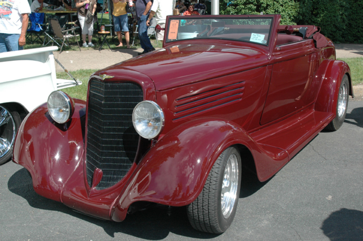 Sleek and modern-looking, Tony and Jan Eckel's 1934 Dodge Cabriolet was a rare find in the 1930s and even rarer now.