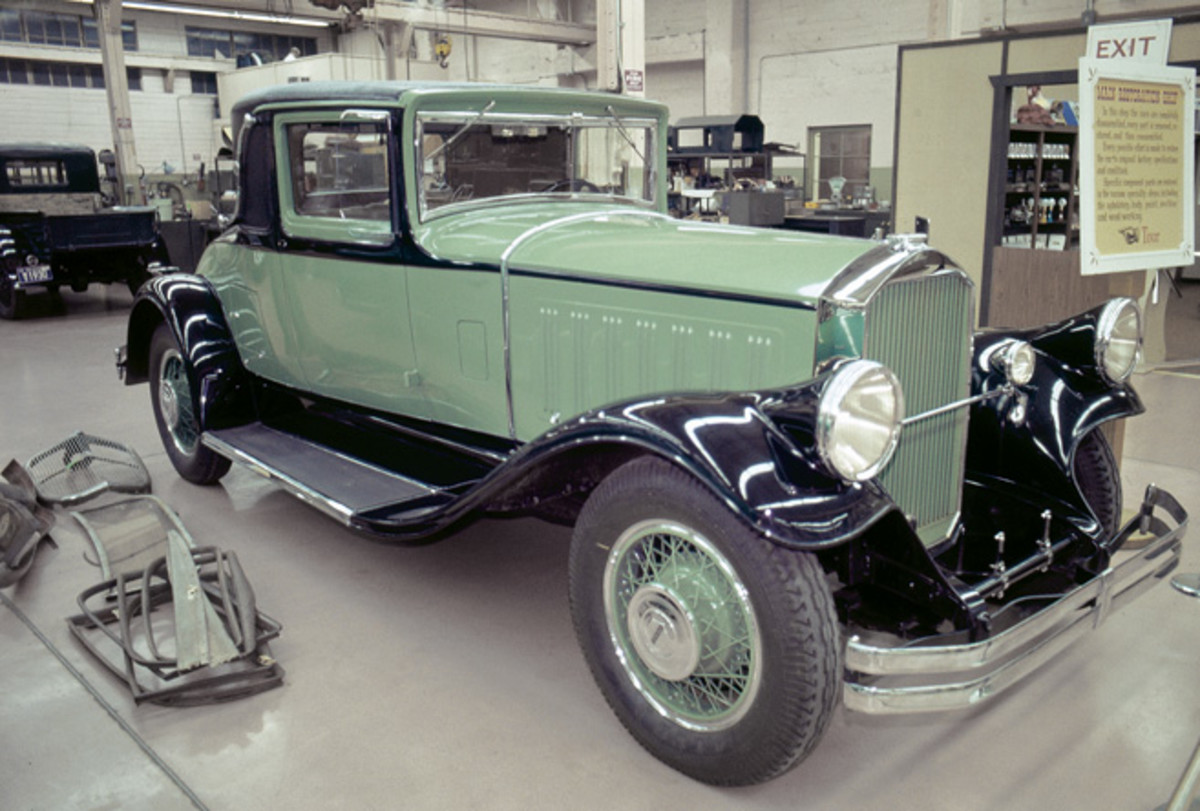 Harrah's 1929 Pierce-Arrow coupe photographed in 1975.