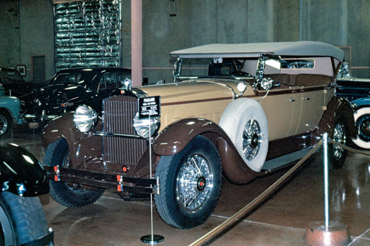 Harrah's 1929 Packard phaeton photographed during a 1974 visit.