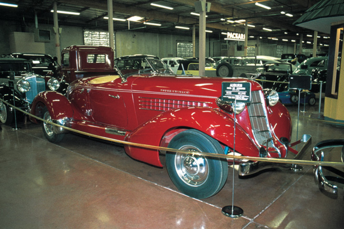 1935 Auburn Speedster as photographed in 1975.