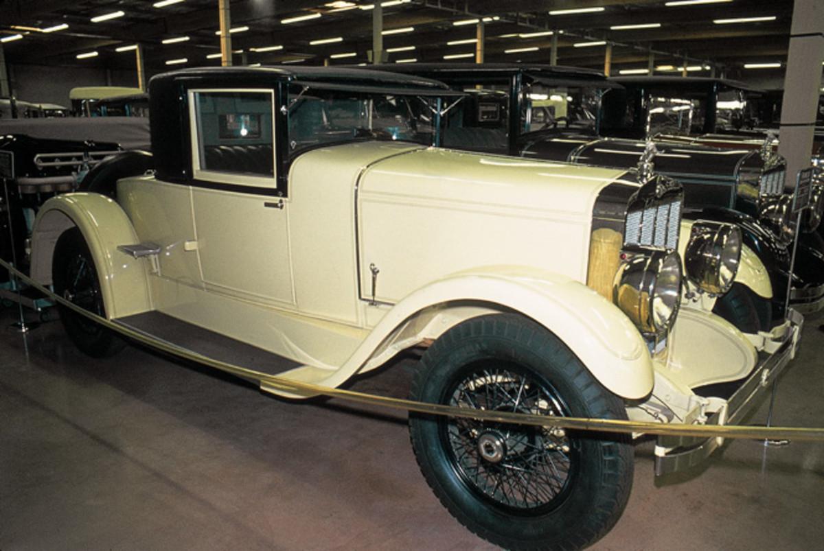 A rare ca-1927 Franklin coupe, shown in a 1975 photograph.
