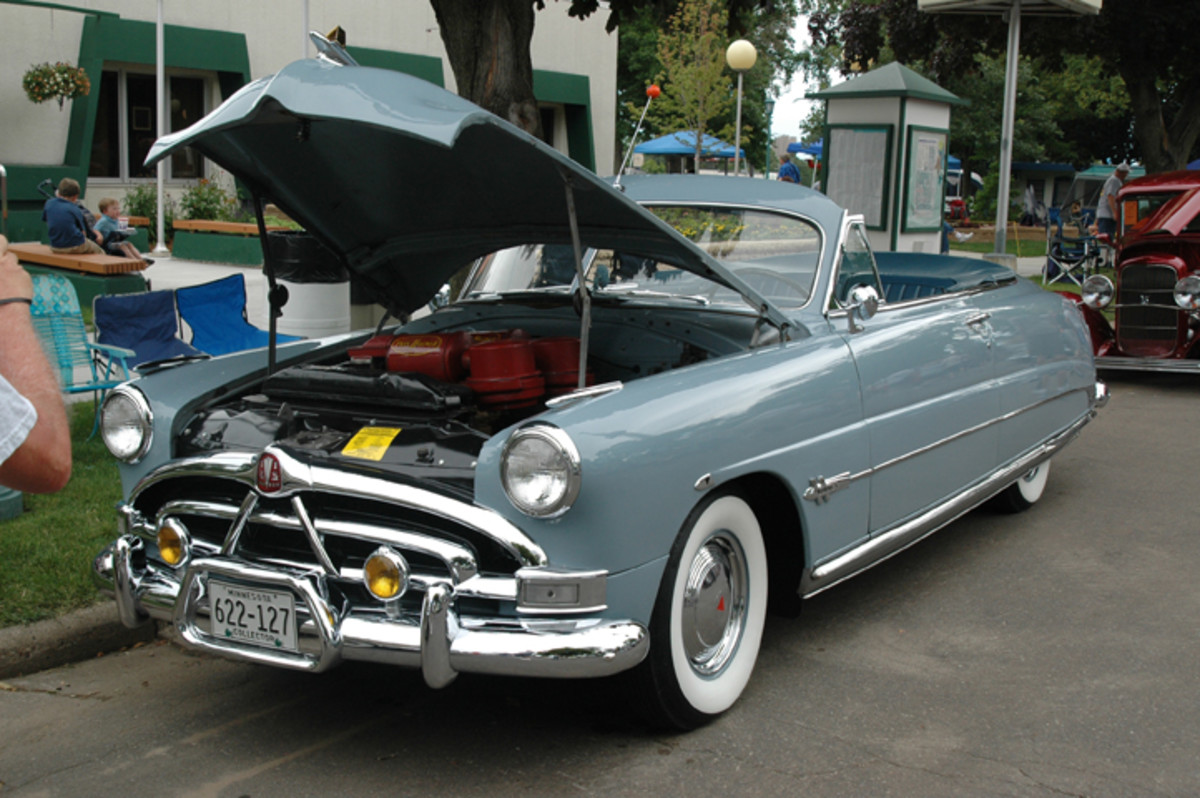 Keith Huisken had the top down and the hood up on his one-of-551-built 1951 Hudson Hornet convertible to show off its Twin-H power.