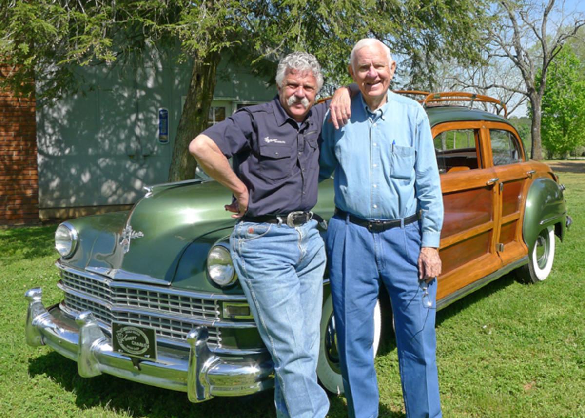 Harold Coker and son Corky, who serves as CEO of Coker Tire Company.