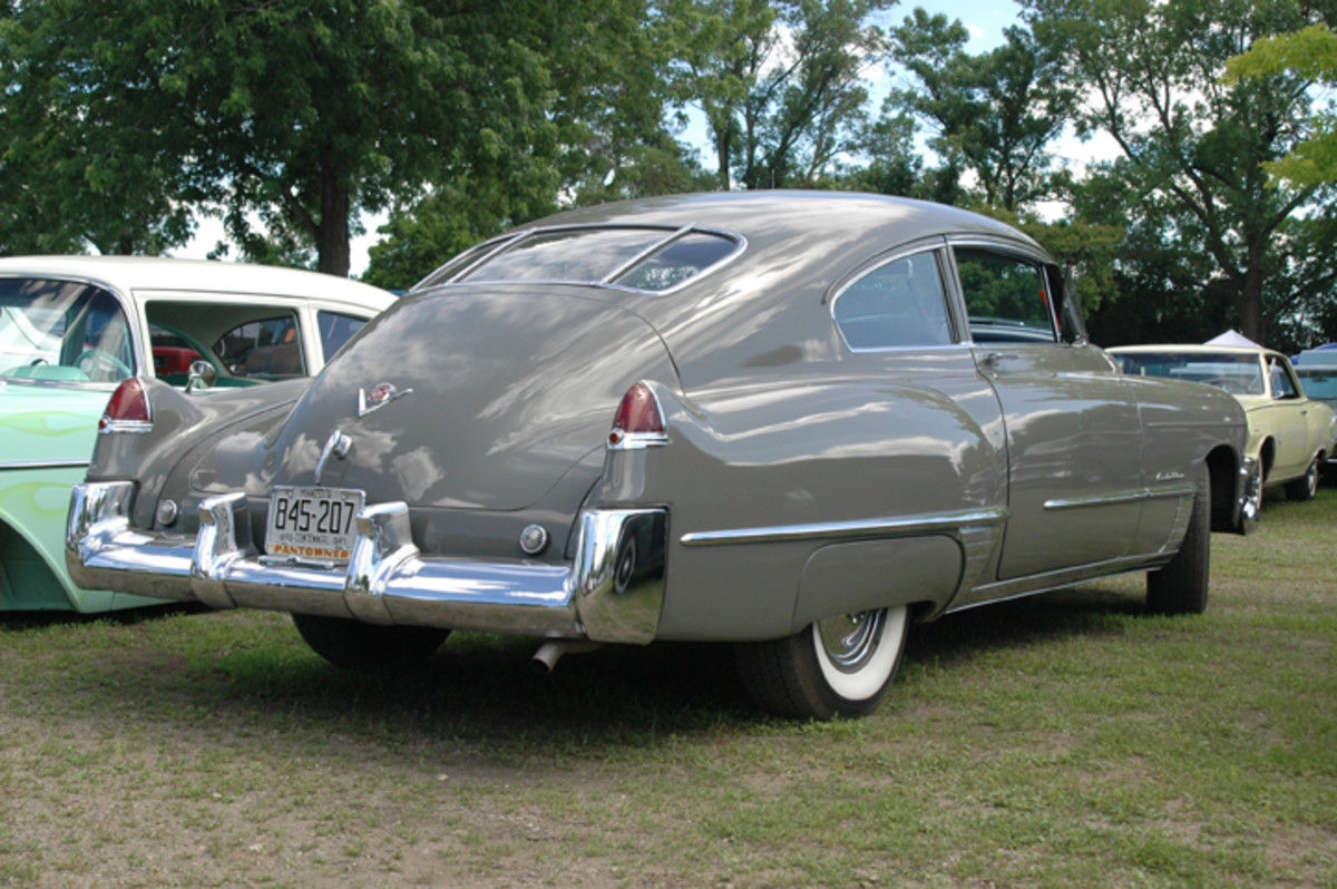 This primo 1949 Cadillac sedanette boasted the first-year overhead-valve V-8. It had plenty of '49 brethren on the fairgrounds during Back to the 50s.