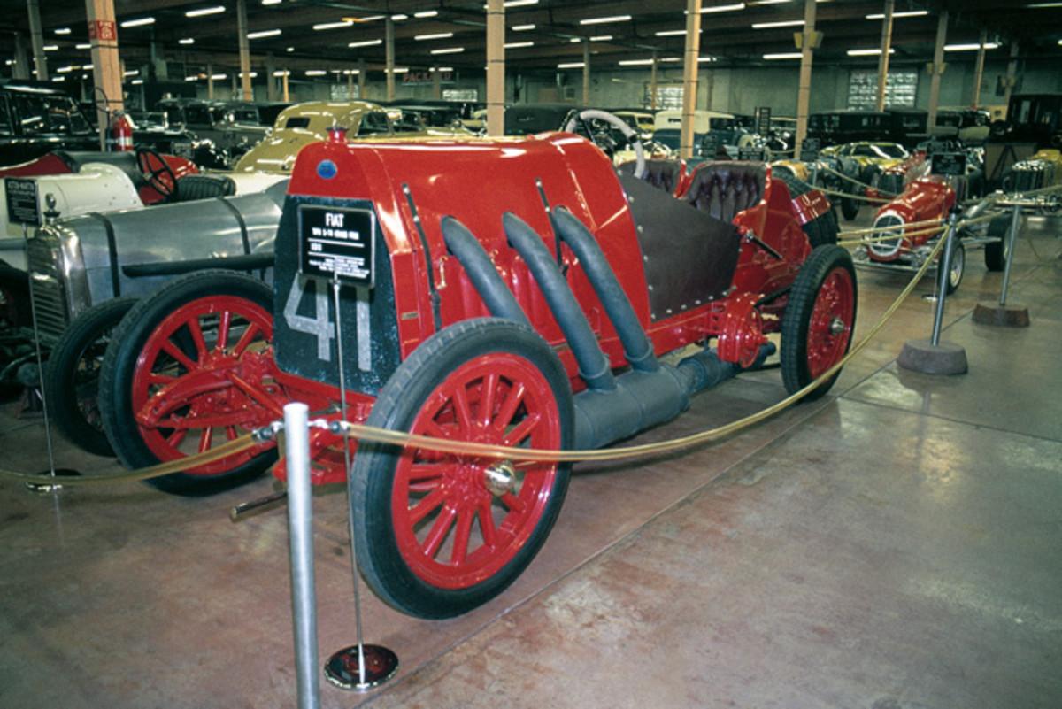 Harrah's 1911 Fiat Grand Prix car photographed in 1975.