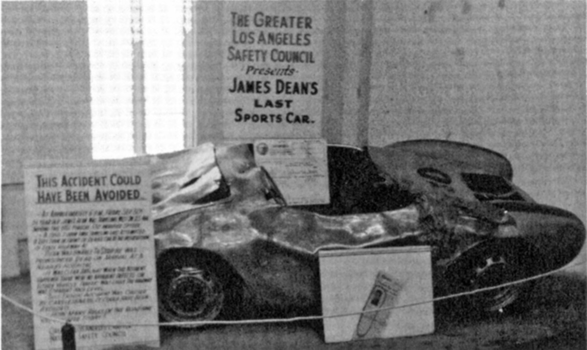 After legendary actor James Dean died in a head-on collision while driving his new Porsche Spyder 550 in 1955, the car was toured as part of a highway safety exhibit. It disappeared while being transported and was reported stolen in the early 1960s.