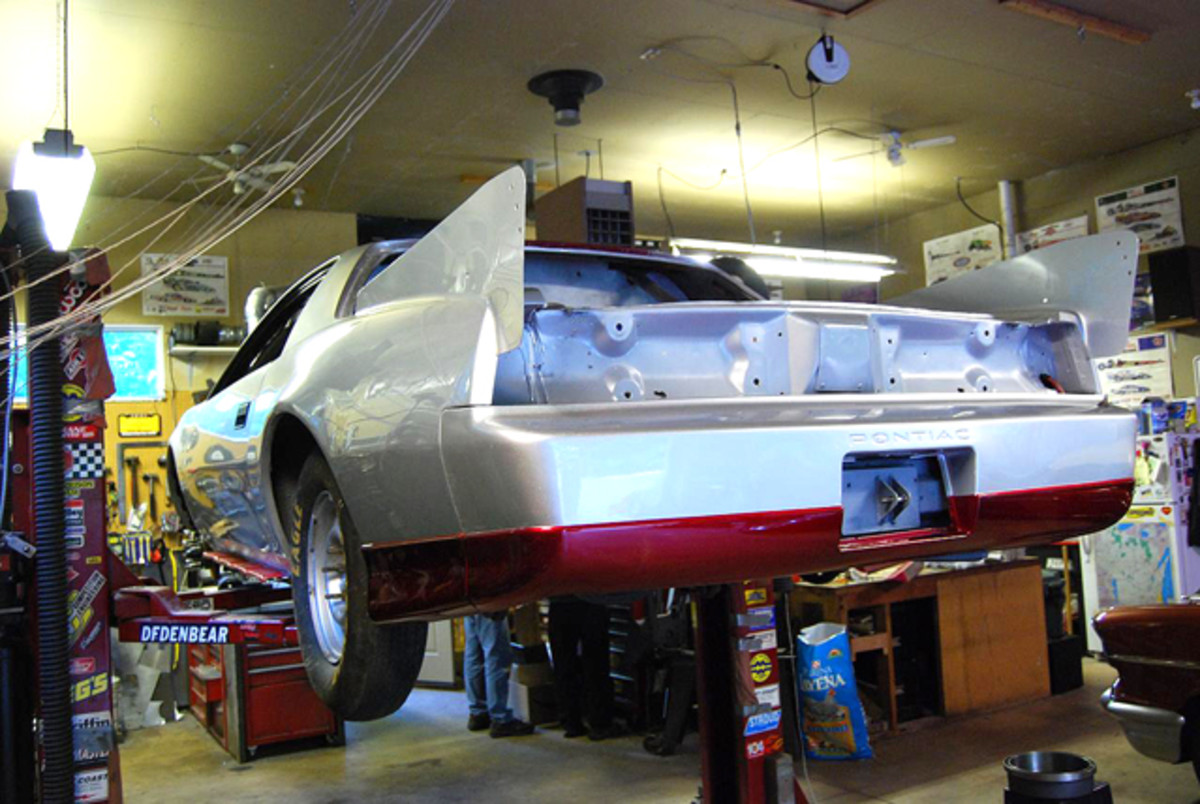 Despite some intensive work sessions in Tom Ale's garage, the car wasn't ready in time for the September event at Bonneville.