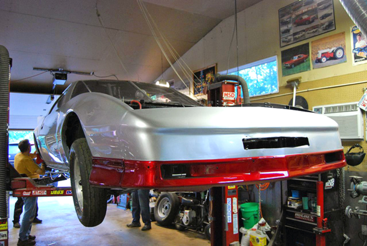 "Last winter the red Firebird became the ""Silver Streak"" with a new paint job."