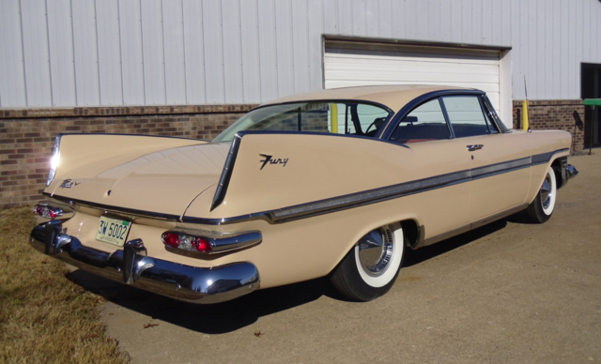 Jerry Minor's 1959 Plymouth Fury has rare seen the road — it has just 369 miles.