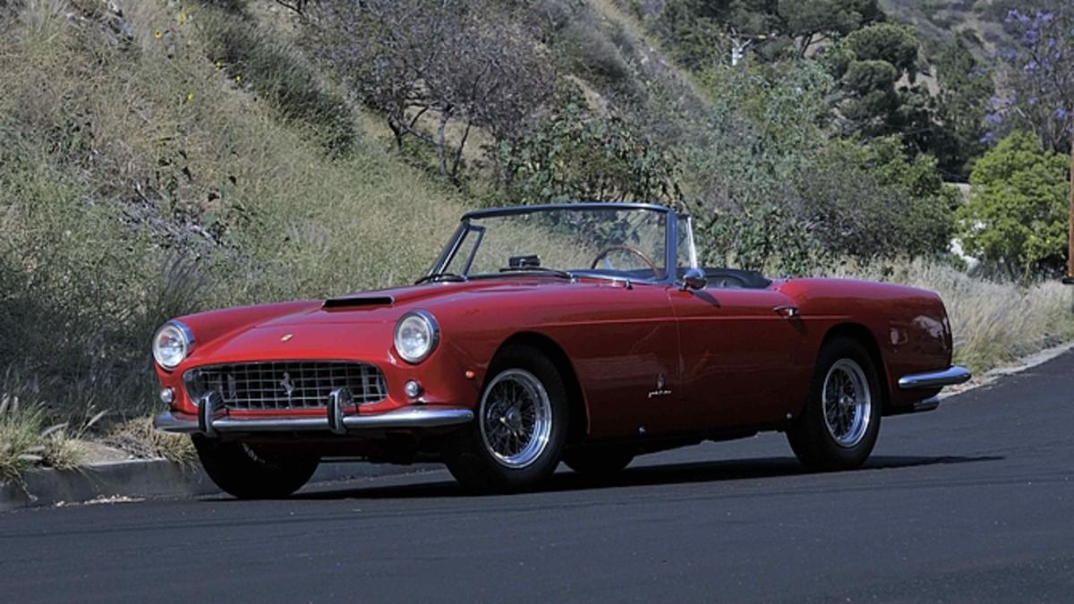 1961 Ferrari 250 Series II Cabriolet sold for $2,250,000 at Mecum's sale.