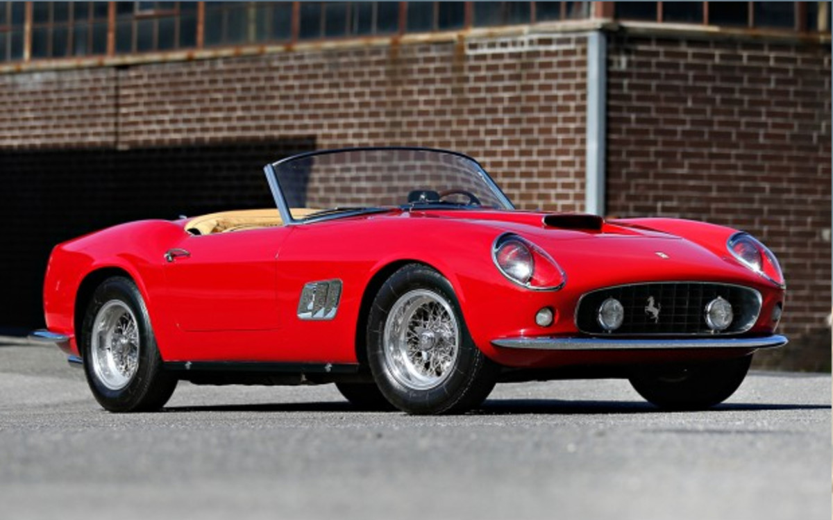 Gooding's top lot was this 1961 Ferrari 250 GT SWB California Spider, which sold for $15,180,000.