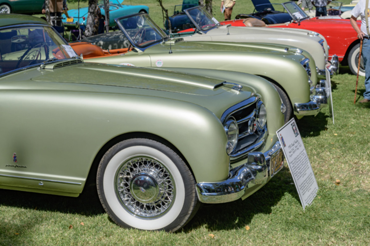 The concours included a class of rare Nash-Healeys. (Ron Kimball Studios image)