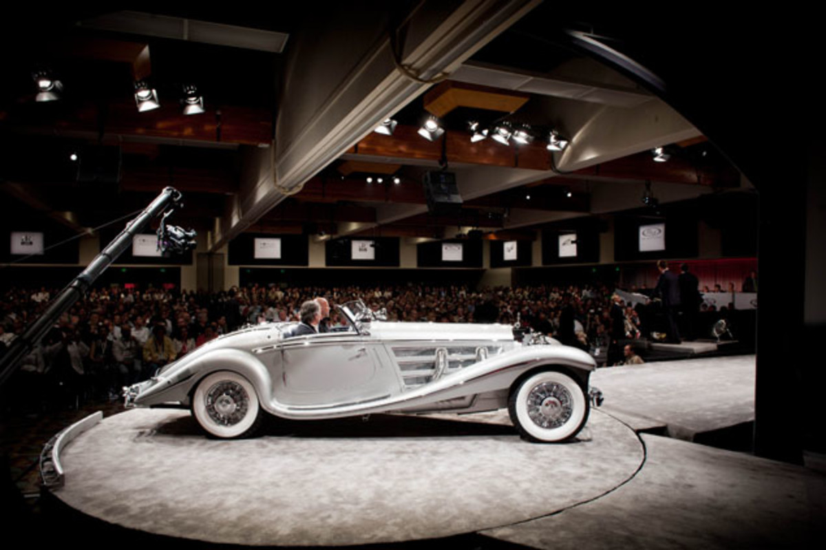 This stunning 1937 Mercedes-Benz 540 K Spezial Roadster set a new world record for a Mercedes-Benz sold at auction, selling for $9.68 million.