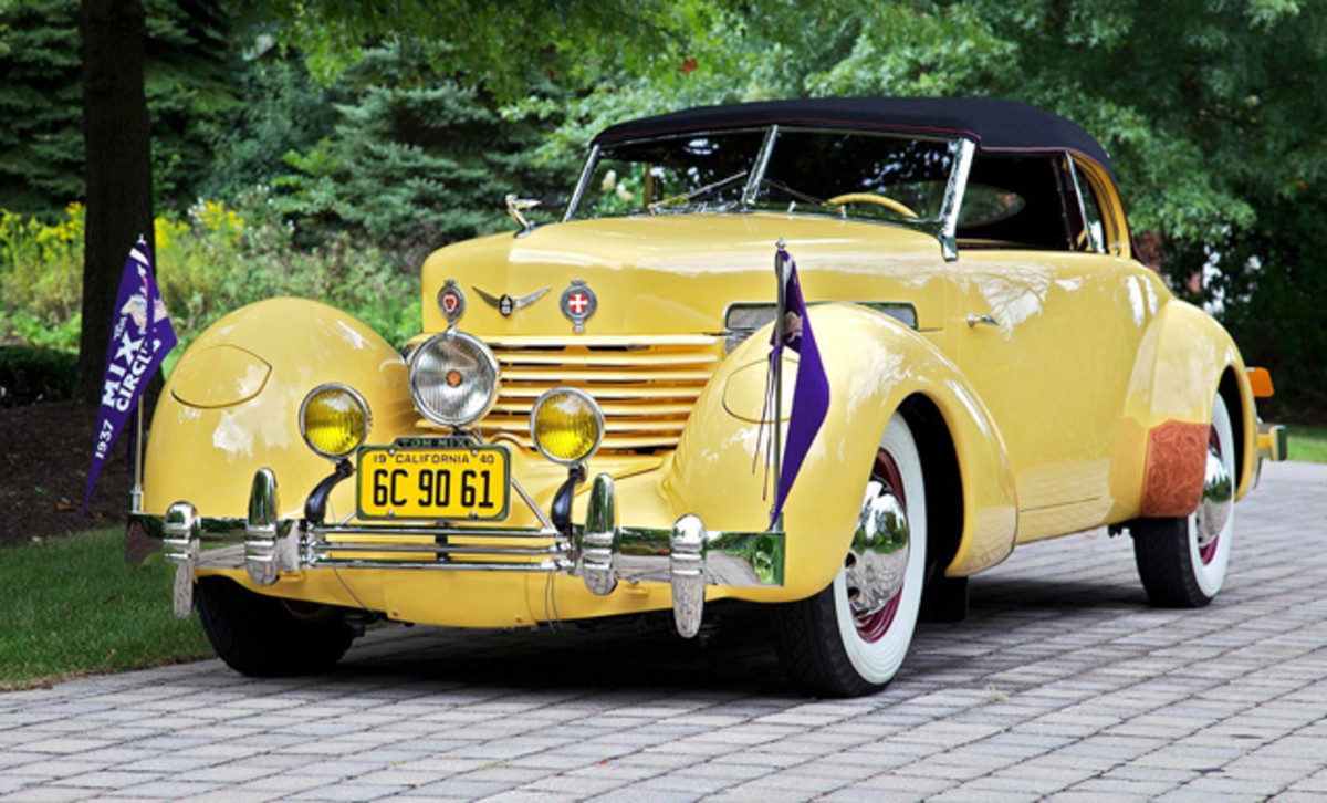 Restored 1937 Cord 812 that Tom Mix drove when he was killed in 1940 in Florence, AZ. (Bob White photo)