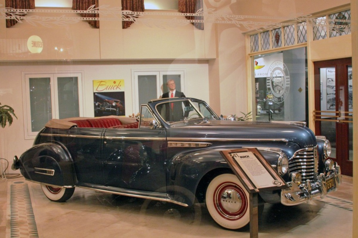 Super Convertible Sedan loaned by Michael Kaminsky well represents the 1941 model year, one of Buick's most popular years of production among collectors.