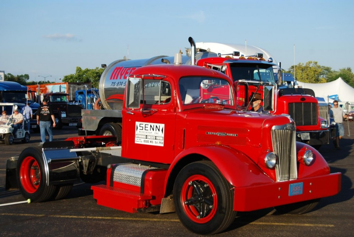 "Senn Blacktop of Osseo, Wis., restored this vintage White Motor Co. ""Super Power"" semi tractor."