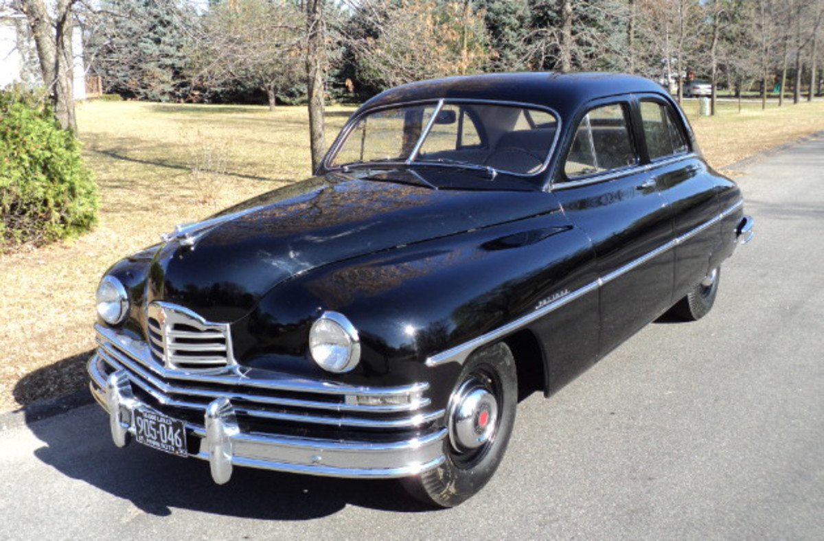 The stately 1950 Packard is nearly new as well, with just 1,572 miles on its odometer.